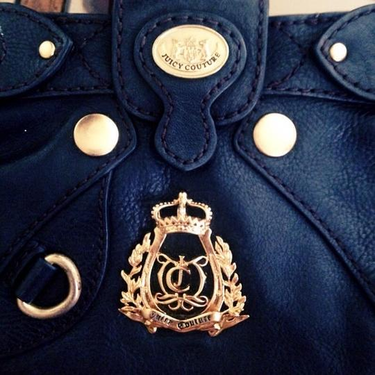 Juicy Couture Black Leather Leather Clutch