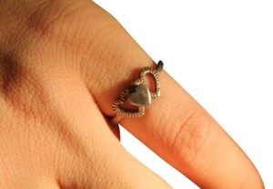 Other Sterling Silver Ring with Heart shapes