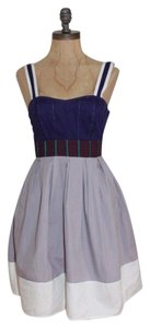 Urban Outfitters short dress MULTI COLOR Color-blocking Silence Pleated Fit And Flare Spring Summer on Tradesy