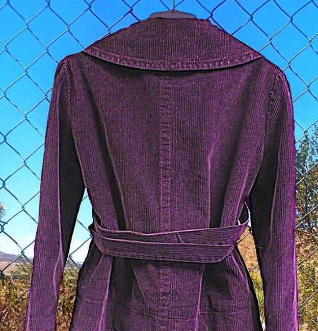 Marc Jacobs Marc Corduroy Coat Fitted Big Buttons Military Blazer Vintage Lining Medium Size 6 Doll Classic Purple Corduroy Jacket