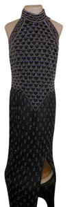 Laurence Kazar Beaded 1990's Vintage Dress
