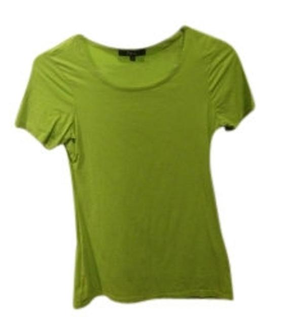 Preload https://item1.tradesy.com/images/express-lime-green-fitted-casual-or-dressy-tee-shirt-size-4-s-33605-0-0.jpg?width=400&height=650