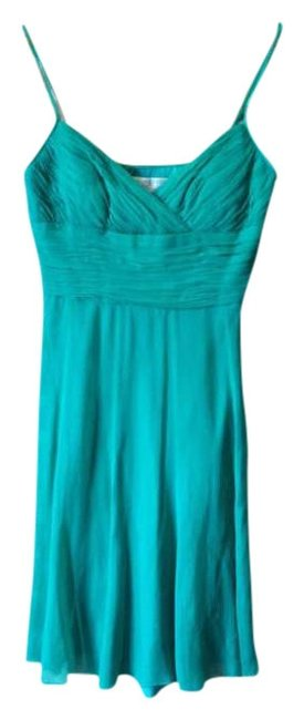 Maggy London Evening Silk Spaghetti Straps Dress