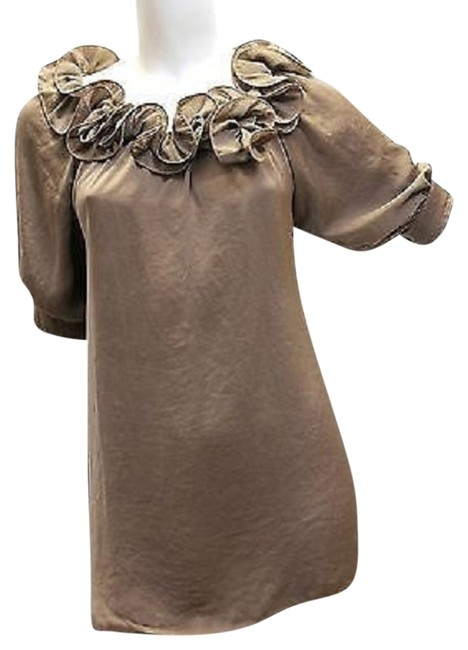 LUMA Made In Italy Brown Top