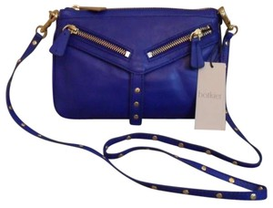Botkier Trigger Moto Leather Leather Handbag Soft Leather Cobalt Blue Clutch