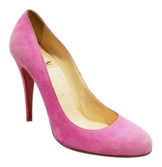 Christian Louboutin Suede Ron Ron 100mm Pink Pumps