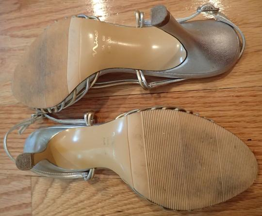 Nina Shoes Leather Holiday Evening Ball Gown Silver & Gold Formal