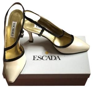 Escada Nude and Black Pumps