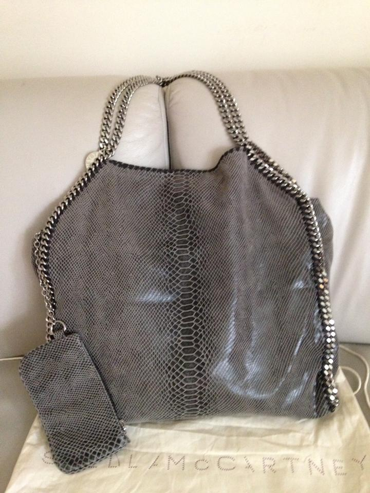 Stella McCartney Faux- Large Falabella Red Python Embossed Tote ... b6a7e741551b1