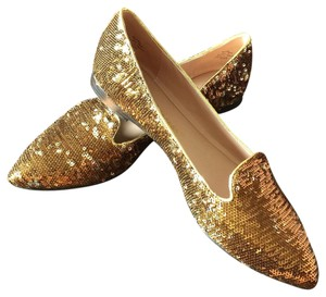 Jean-Michel Cazabat Brown/Bronze Sequin Flats