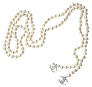 Chanel Chanel Classic CC Pearl Lariat Long Necklace