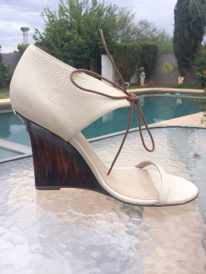 Burberry Winter White Creme Wedges Image 1