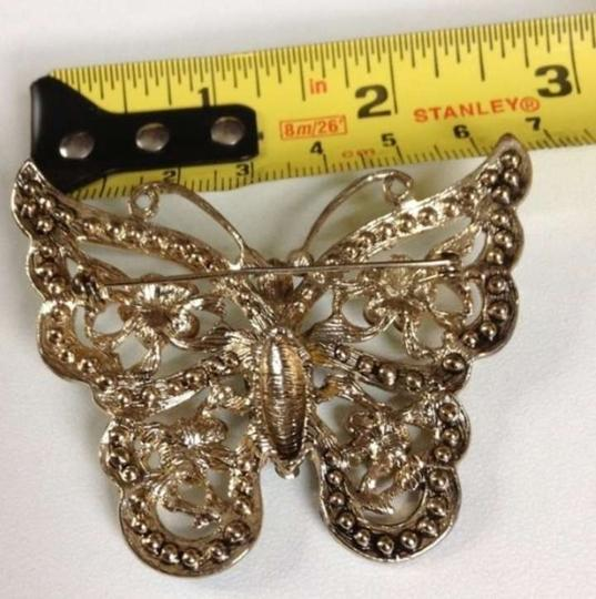 """Other 2.5"""" green and turquoise butterfly pin"""