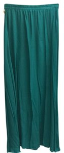 Mango Maxi Maxi Skirt Green