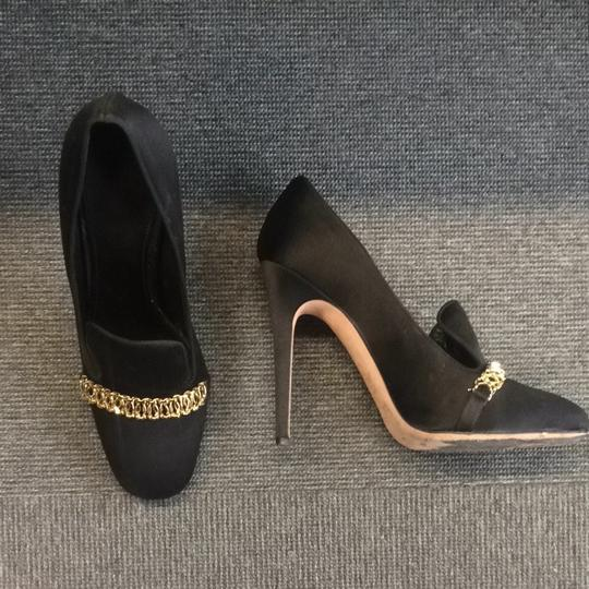 Giambattista Valli Chain Satin Giamba Heels black Pumps