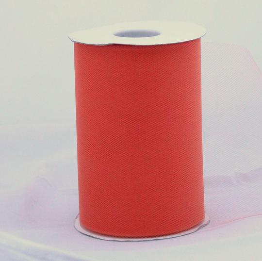 Orange Tulle Huge Roll - 100 Yd X 6 In Orange Tulle Spool - Tulle Roll Free Ship