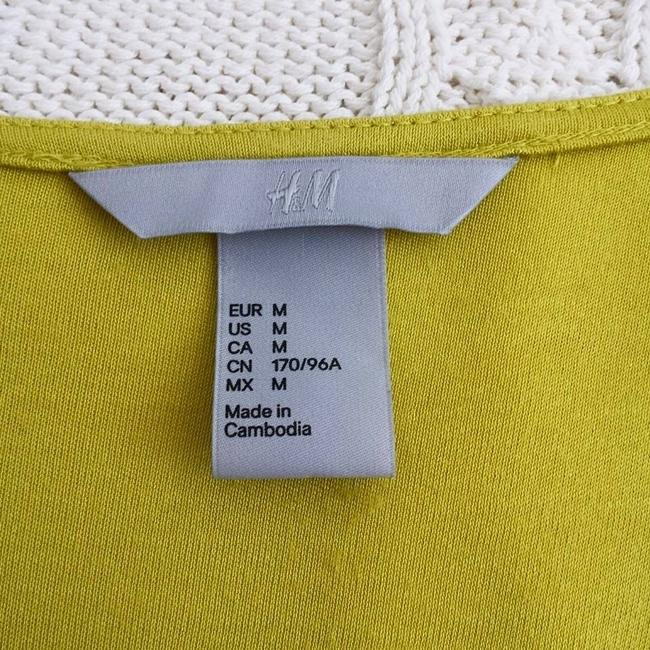 H&M Top Neon Yellow Green