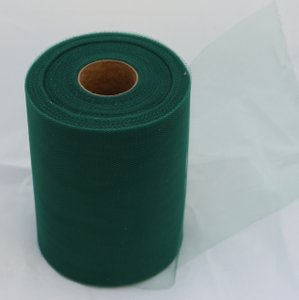 Dark Green Tulle Huge Roll - 100 Yd X 6 In Dark Green Tulle Spool - Tulle Roll Free Ship