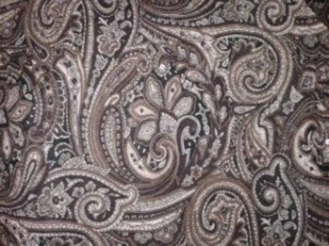 Ann Taylor Shades brown & taupe paisley Halter Top