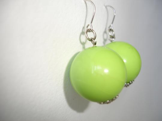 Other lime green plastic drop earrings