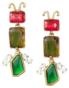 Oscar de la Renta Oscar de la Renta Jeweled Insect Clip Earrings