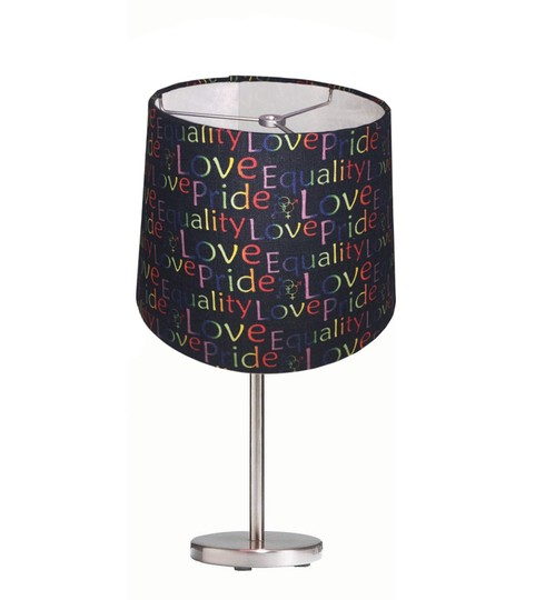 Rainbow Gay Pride Handmade Linen Lamp Shade 3363748 Wedding Miscellaneous On Sale