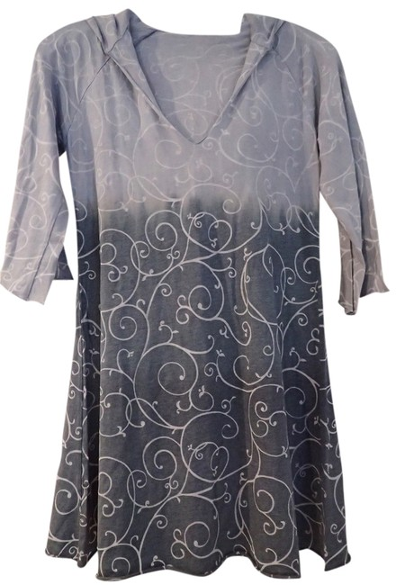 Item - Blue Gray Tie Dye Cover-up/Sarong Size 4 (S)