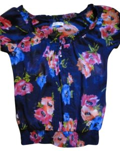 Hollister Top Navy Floral
