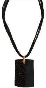 Italian Venetian AUTHENTIC ITALIAN VENETIAN PENDANT ON BLACK CORD WITH MODERN PATTERN