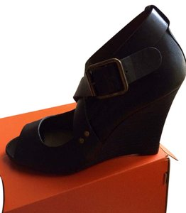 DKNY black Wedges