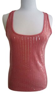 Ann Taylor Sequin Top Red/White