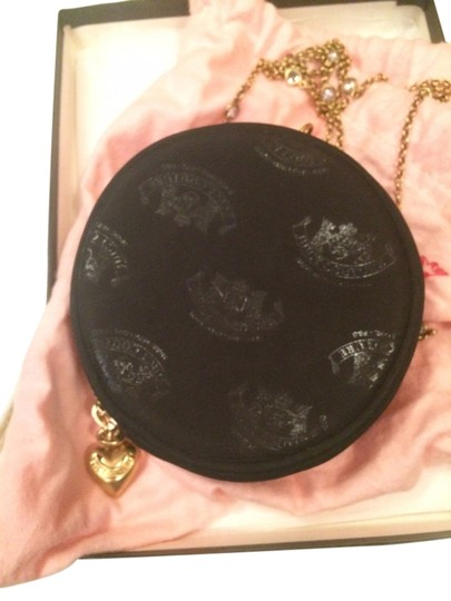 Juicy Couture Evening Purse Monogramed Wristlet in Black