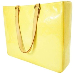 Louis Vuitton Lv Monogram Vernis Large Tote in Yellow