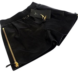Giuseppe Zanotti Lambsking Louis Vuitton Chanel Gucci Gold Shorts Black