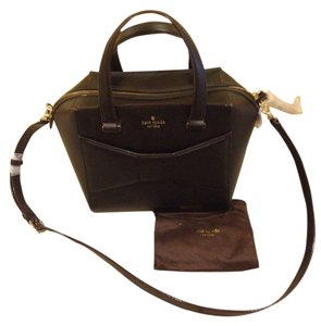 Kate Spade Crossbody Park Avenue 2 Leather Satchel in Black