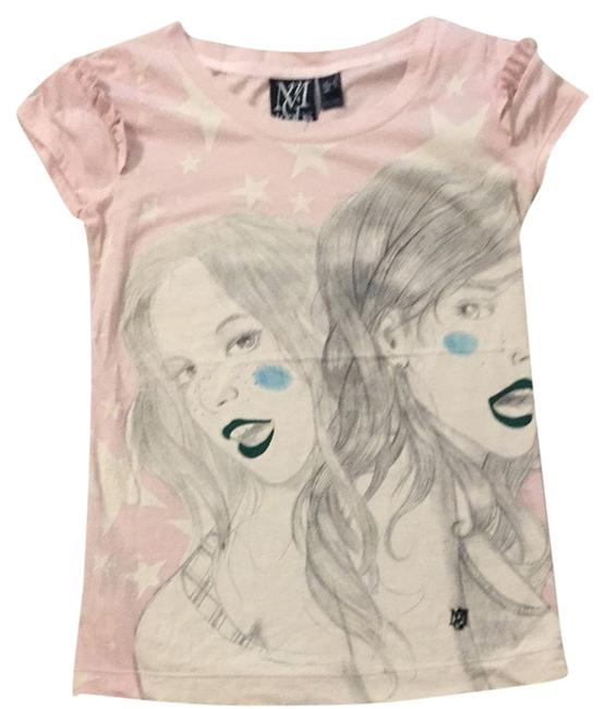 Mango Cotton T Shirt Pink