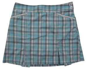 Izod Skort Blue Black & White Plaid Print