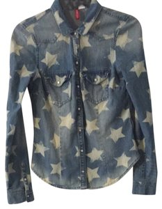 H&M Shirt Star Button Down Shirt