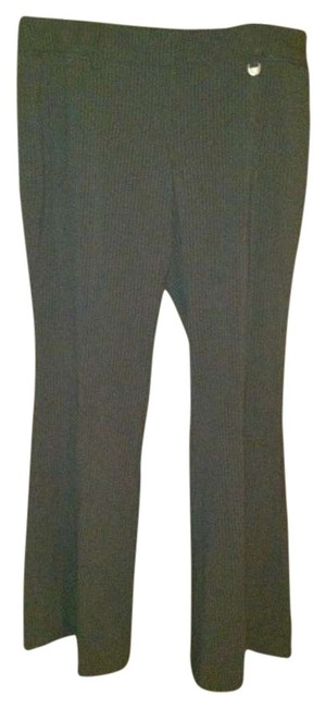 New York & Company Dress Stretch Classy Straight Pants Black pinstripe