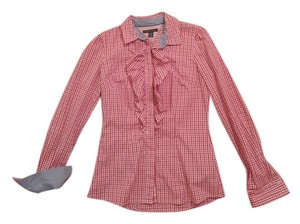 1165c4a8 Tommy Hilfiger Button Down Shirt multi light pink/ red/ dark pink - item med