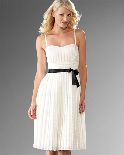 White house black market cream ivory chiffon 300111088 for White house black market wedding dresses