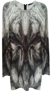 Alexander McQueen Fox Fur Pencil Dress