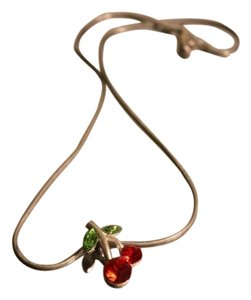 Hot Topic Hot Topic Cherry Silver Necklace