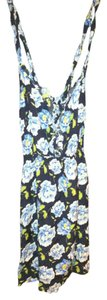 Abercrombie & Fitch short dress Royal Blue Summer Flowers on Tradesy