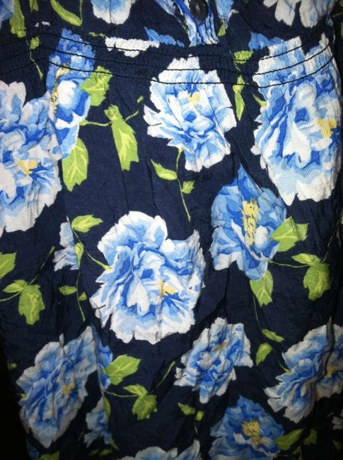 Abercrombie & Fitch short dress Royal Blue Summer Flowers Blue Stylish on Tradesy