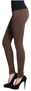 Nikibiki Brown Detail Thick Taupe Leggings