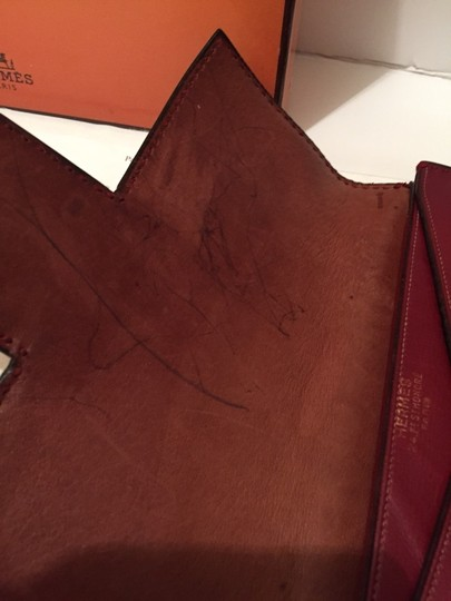 Hermès Vintage Leather Purse Snap Stylish Classic Brown / Burgundy Clutch