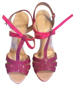 Enzo Angiolini Hot Pink And Purple Platforms
