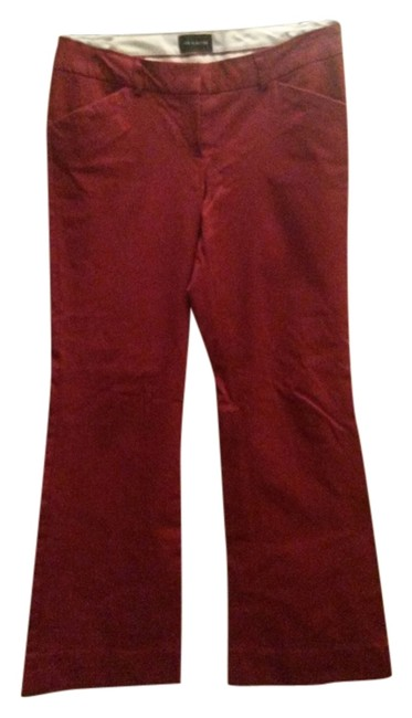 Preload https://item1.tradesy.com/images/the-limited-dark-red-flared-pants-size-4-s-27-3366640-0-0.jpg?width=400&height=650