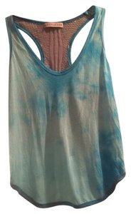 Woodleigh Tie Dye Crotchet Top Blue